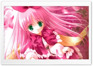Cute Pink Anime HD Wide Wallpaper for 4K UHD Widescreen desktop & smartphone
