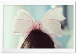 Cute Pink Bow HD Wide Wallpaper for Widescreen