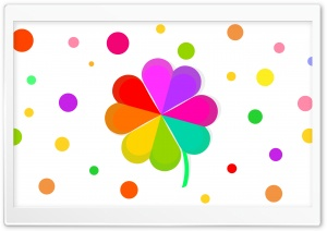 Cute Rainbow Four Leaf Clover Ultra HD Wallpaper for 4K UHD Widescreen desktop, tablet & smartphone
