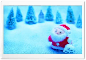 Cute Santa Claus HD Wide Wallpaper for Widescreen