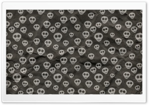 Cute Skulls Wrapping Paper Ultra HD Wallpaper for 4K UHD Widescreen desktop, tablet & smartphone