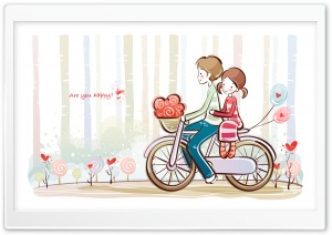 Cute Valentine Couple HD Wide Wallpaper for Widescreen