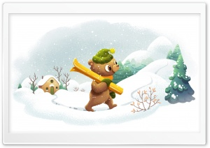 Cute Winter illustration Ultra HD Wallpaper for 4K UHD Widescreen desktop, tablet & smartphone