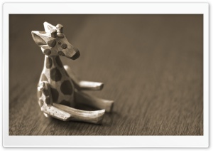 Cute Wooden Giraffe HD Wide Wallpaper for 4K UHD Widescreen desktop & smartphone