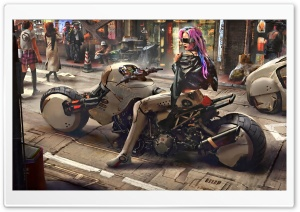 Cyberpunk Art Ultra HD Wallpaper for 4K UHD Widescreen desktop, tablet & smartphone