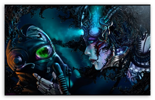 Cyberpunk Digital Art HD wallpaper for Wide 16:10 5:3 Widescreen WHXGA WQXGA WUXGA WXGA WGA ; HD 16:9 High Definition WQHD QWXGA 1080p 900p 720p QHD nHD ; Standard 3:2 Fullscreen DVGA HVGA HQVGA devices ( Apple PowerBook G4 iPhone 4 3G 3GS iPod Touch ) ; Mobile 5:3 3:2 16:9 - WGA DVGA HVGA HQVGA devices ( Apple PowerBook G4 iPhone 4 3G 3GS iPod Touch ) WQHD QWXGA 1080p 900p 720p QHD nHD ;