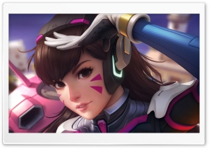 D.Va Overwatch Artwork HD Wide Wallpaper for Widescreen