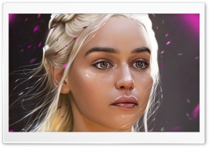 Daenerys Game of Thrones Painting ART Ultra HD Wallpaper for 4K UHD Widescreen desktop, tablet & smartphone