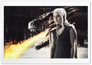 Daenerys With Dragon HD Wide Wallpaper for 4K UHD Widescreen desktop & smartphone