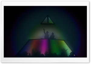 Daft Punk Concert Pyramid HD Wide Wallpaper for Widescreen