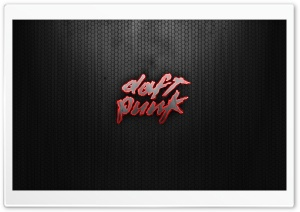 Daft Punk Logo Red HD Wide Wallpaper for 4K UHD Widescreen desktop & smartphone