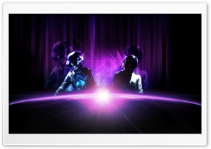Daft Punk Purple (Live) HD Wide Wallpaper for Widescreen