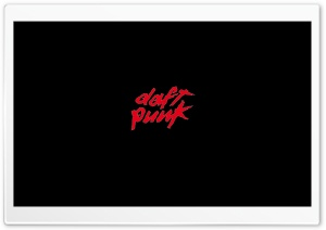 Daft Punk Red Logo HD Wide Wallpaper for Widescreen