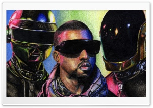 Daft Punk vs. Kanye West HD Wide Wallpaper for Widescreen