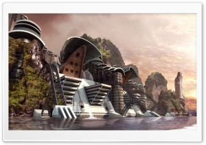 Dam 3D HD Wide Wallpaper for Widescreen