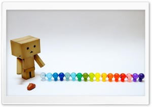 Danbo And Rainbow Toys HD Wide Wallpaper for Widescreen