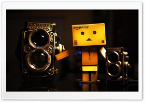 Danbo And Rolleiflex HD Wide Wallpaper for Widescreen