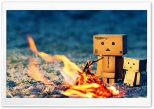 Danbo Fire Camp HD Wide Wallpaper for Widescreen