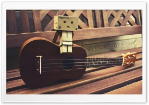 Danbo Guitar HD Wide Wallpaper for Widescreen