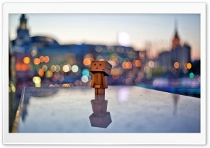 Danbo In The City HD Wide Wallpaper for Widescreen