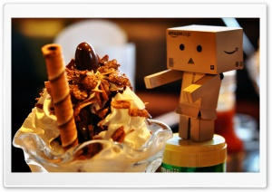 Danbo Loves Ice Cream HD Wide Wallpaper for Widescreen