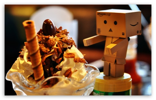 Danbo Loves Ice Cream HD wallpaper for Wide 16:10 5:3 Widescreen WHXGA WQXGA WUXGA WXGA WGA ; HD 16:9 High Definition WQHD QWXGA 1080p 900p 720p QHD nHD ; Standard 4:3 3:2 Fullscreen UXGA XGA SVGA DVGA HVGA HQVGA devices ( Apple PowerBook G4 iPhone 4 3G 3GS iPod Touch ) ; iPad 1/2/Mini ; Mobile 4:3 5:3 3:2 16:9 - UXGA XGA SVGA WGA DVGA HVGA HQVGA devices ( Apple PowerBook G4 iPhone 4 3G 3GS iPod Touch ) WQHD QWXGA 1080p 900p 720p QHD nHD ;