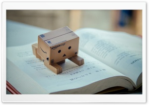 Danbo Reading Book HD Wide Wallpaper for 4K UHD Widescreen desktop & smartphone