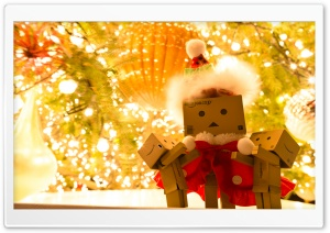 Danbo Santa Claus HD Wide Wallpaper for Widescreen