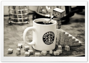 Danbo Starbucks HD Wide Wallpaper for Widescreen