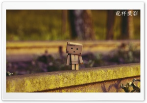 Danbo Waiting For Train HD Wide Wallpaper for 4K UHD Widescreen desktop & smartphone