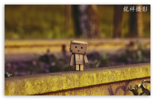 Download Danbo Waiting For Train HD Wallpaper