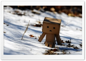 Danbo Winter HD Wide Wallpaper for Widescreen