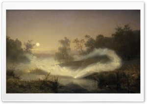 Dancing Fairies By Johan August Malmstrom HD Wide Wallpaper for Widescreen