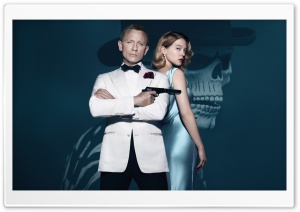 Daniel Craig, Lea Seydoux, Spectre HD Wide Wallpaper for Widescreen