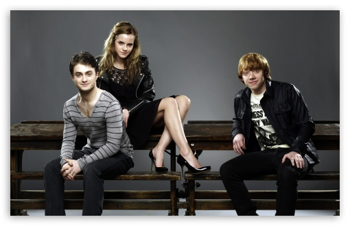 Daniel Radcliffe, Emma Watson And Rupert Grint HD wallpaper for Wide 16:10 5:3 Widescreen WHXGA WQXGA WUXGA WXGA WGA ; HD 16:9 High Definition WQHD QWXGA 1080p 900p 720p QHD nHD ; Standard 4:3 5:4 3:2 Fullscreen UXGA XGA SVGA QSXGA SXGA DVGA HVGA HQVGA devices ( Apple PowerBook G4 iPhone 4 3G 3GS iPod Touch ) ; Tablet 1:1 ; iPad 1/2/Mini ; Mobile 4:3 5:3 3:2 16:9 5:4 - UXGA XGA SVGA WGA DVGA HVGA HQVGA devices ( Apple PowerBook G4 iPhone 4 3G 3GS iPod Touch ) WQHD QWXGA 1080p 900p 720p QHD nHD QSXGA SXGA ;