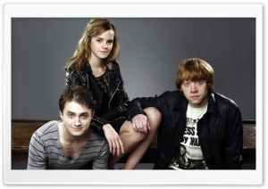 Daniel Radcliffe, Emma Watson And Rupert Grint HD Wide Wallpaper for Widescreen