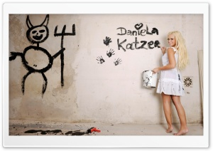 Daniela Katzenberger Painting HD Wide Wallpaper for Widescreen