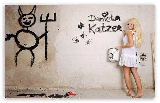 Daniela Katzenberger Painting HD wallpaper for Wide 16:10 5:3 Widescreen WHXGA WQXGA WUXGA WXGA WGA ; HD 16:9 High Definition WQHD QWXGA 1080p 900p 720p QHD nHD ; Standard 3:2 Fullscreen DVGA HVGA HQVGA devices ( Apple PowerBook G4 iPhone 4 3G 3GS iPod Touch ) ; Tablet 1:1 ; iPad 1/2/Mini ; Mobile 4:3 5:3 3:2 16:9 - UXGA XGA SVGA WGA DVGA HVGA HQVGA devices ( Apple PowerBook G4 iPhone 4 3G 3GS iPod Touch ) WQHD QWXGA 1080p 900p 720p QHD nHD ;