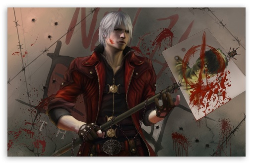 Dante Devil May Cry HD wallpaper for Wide 16:10 5:3 Widescreen WHXGA WQXGA WUXGA WXGA WGA ; HD 16:9 High Definition WQHD QWXGA 1080p 900p 720p QHD nHD ; Standard 4:3 5:4 3:2 Fullscreen UXGA XGA SVGA QSXGA SXGA DVGA HVGA HQVGA devices ( Apple PowerBook G4 iPhone 4 3G 3GS iPod Touch ) ; iPad 1/2/Mini ; Mobile 4:3 5:3 3:2 16:9 5:4 - UXGA XGA SVGA WGA DVGA HVGA HQVGA devices ( Apple PowerBook G4 iPhone 4 3G 3GS iPod Touch ) WQHD QWXGA 1080p 900p 720p QHD nHD QSXGA SXGA ;