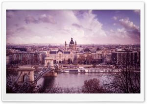 Danube River, Budapest, Hungary HD Wide Wallpaper for Widescreen