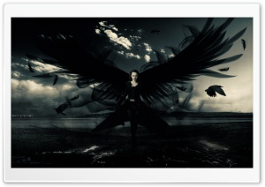 Dark Angel Ultra HD Wallpaper for 4K UHD Widescreen desktop, tablet & smartphone