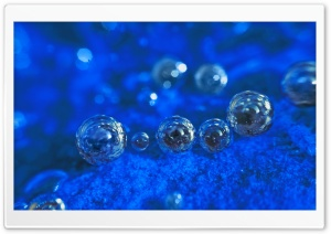 Dark Blue Background With Bubbles HD Wide Wallpaper for Widescreen