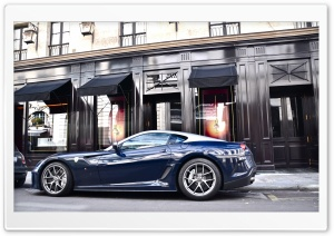 Dark Blue Ferrari HD Wide Wallpaper for Widescreen