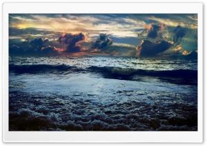 Dark Blue Sea HD Wide Wallpaper for Widescreen