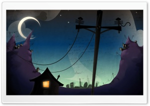 Dark Cartoon Art HD Wide Wallpaper for Widescreen