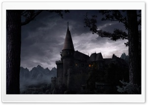 Dark Castle HD Wide Wallpaper for 4K UHD Widescreen desktop & smartphone