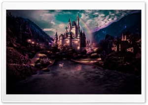 Dark Castle Land HD Wide Wallpaper for Widescreen