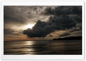 Dark Clouds - Beach HD Wide Wallpaper for Widescreen