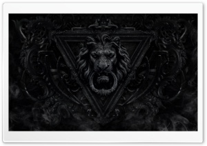 Dark Gothic Lion HD Wide Wallpaper for Widescreen