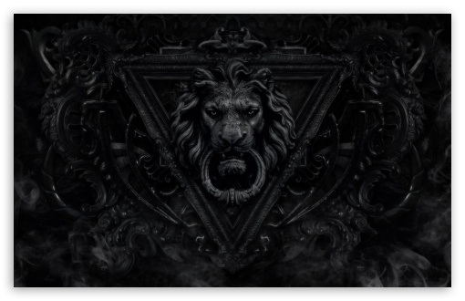 Dark Gothic Lion Uhd Desktop Wallpaper For 4k Ultra Hd Tv